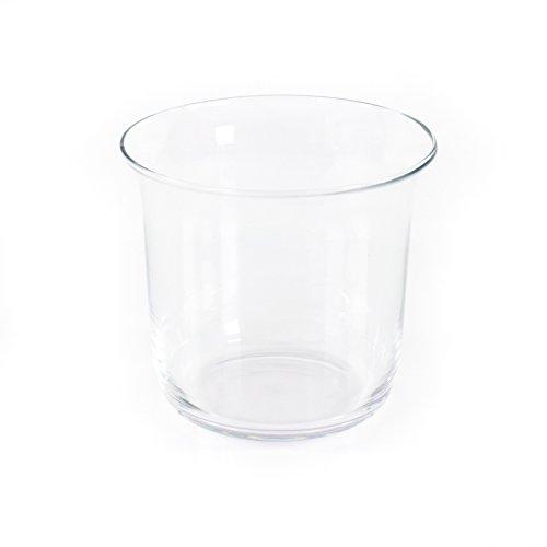 Glass Vase / Flower Pot Phil, Clear, 8.3