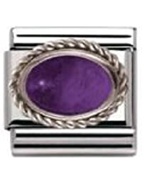 Nomination Composable Women's Bead Classic Halb in Steel Silver 925 + Amethyst Stone