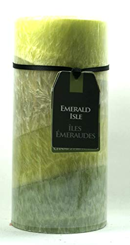 P.Shop 3 Duft Kerze Emerald Isle Nashi-Birne/Melone/Frühlingswiese H: 15 cm Grün -