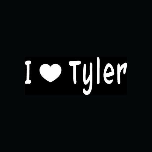 I Love Tyler Sticker Car Truck Laptop Vinyl Decal Cute Girl Teen Boy Hot Friend - Die Cut Vinyl Decal for Windows, Cars, Trucks, Tool Boxes, laptops, MacBook - virtually Any Hard, Smooth Surface (Cute Teen Boy)