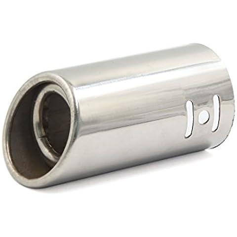 Sourcingmap-Universal de 2pulgadas de doble capa de acero inoxidable coche extremos de tubo de escape punta