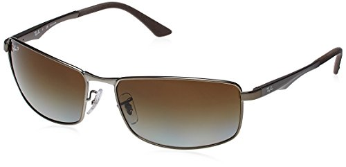 9d6e5a35363 Ray ban rb-3498-029-t5-64 Rectangle Sunglasses Gun Metal Rb 3498 029t564- Price  in India