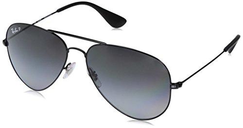 Ray-Ban Unisex-Erwachsene Sonnenbrille Rb 3558, Schwarz (Black), 58 - Ban Schwarze Ray Aviator Sonnenbrille