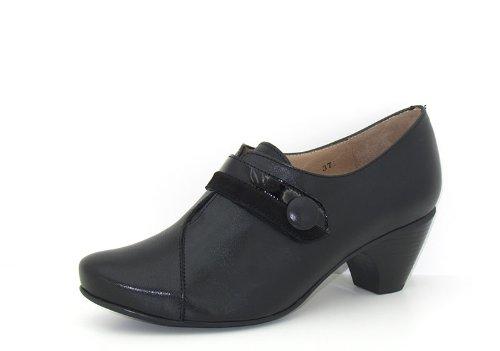 Piesanto Modèle 3406 - Confortable chaussures en cuir pour femmes Noir