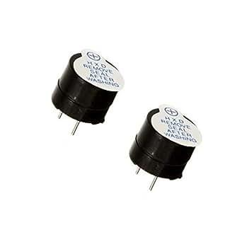 Pièces 2 x 5V Générateur de signal Buzzer Beeper Arduino PCB #A125