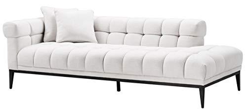 Casa-Padrino sofá Lounge Blanco/Negro 223 x 98 x H. 69 cm ...