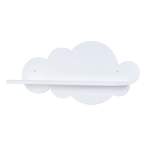 Bainba nuvola mensola, legno, bianco, 59x 20x 30cm