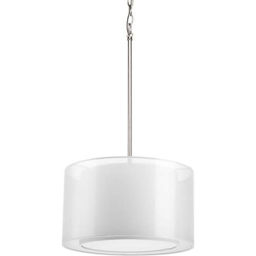 Progress Lighting P5036-09 Cuddle 1-Lt. Mylar Drum Pendant with White mylar shade by Progress Lighting -