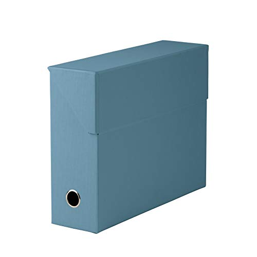 Rössler 1319452153 S.O.H.O. Archivbox, mit Klappe und Griffloch, Denim -