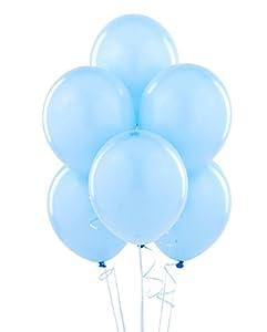 Gifts 4 All Occasions Limited SHATCHI-632 - Lote de globos de látex para fiesta de cumpleaños, bautizo, comunión (50 unidades), color azul