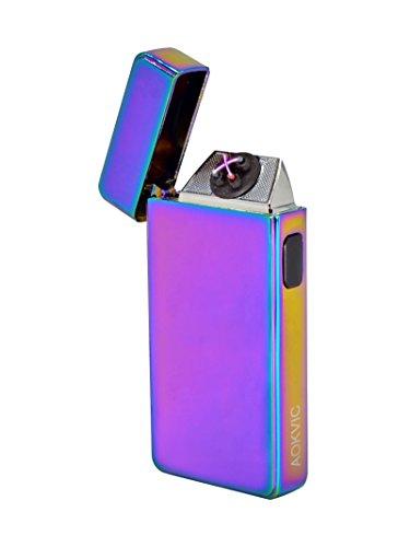 Aokvic Neues USB elektronisches Feuerzeug aufladbar lichtbogen (Lila)