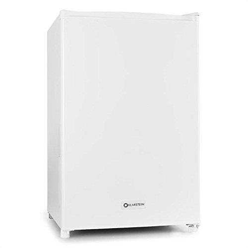 Klarstein Réfrigérateur 120 L + compartiment congélateur écologique 12 L (67W, bac à glacons, bac à légumes, silencieux, classe énergétique A) - blanc
