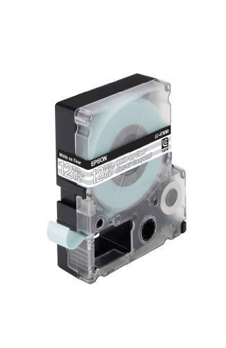 EPSON Schriftband LC4TWN9 transparent weiss auf transparent 12mm fuer Label Works 900P, LW300,LW400
