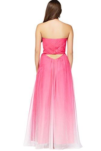 TOSKANA BRAUT Damen Mehrfarbig Abendkleider Lang Chiffon Party Fest Ballkleider Mehrfarbig2600A