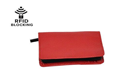 RFID Bifold Wallet | rot-Reißverschluss EC, indem home-x -