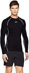 Under Armour Herren UA HeatGear Long Sleeve langärmliges Funktionsshirt, atmungsaktives Langarmshirt für Männer, Schwarz, Large