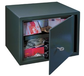 Rottner 3139 Saturn LE25 £1000 Cash-Rated Key Lock Safe for Home or Office Use – Double-Bit Safety Lock with Strong Locking 18mm Bolts – Affordable Fireproof Small Medium Compact Safety Deposit