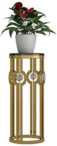 YDOZ Blumenständer Edelstahl, europäischer Verein, golden floral Frame, modern minimalistisches Hotel, Wohnzimmer Blume, Wohnzimmer, runder Blumenstand (Farbe, Gold, Größe L)
