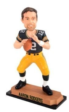 Aaron Rodgers Green Bay Packers Real Bobble Head by Forever Collectibles