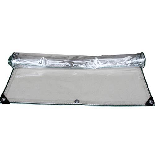 KYSZD-Zeltplanen Schwerlast Transparent Plane UV-beständig Regenschutz für Terrasse Angeln Garten Wandern Campinganhänger Auto Boote Dach Zelt Bodenabdeckungen