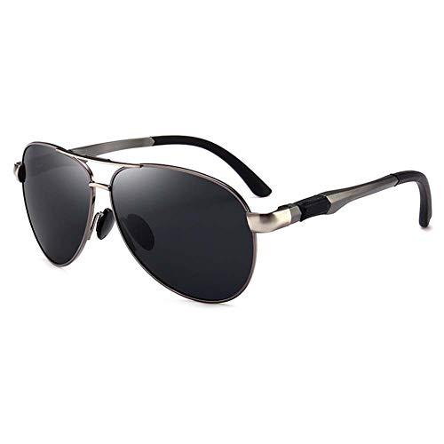 Z&HA Sport-Sonnenbrille Der Männer Treibender Eyewear Fahrer Polarisierte Gläser Der Fliegerart Al-Mg Rahmen, Fischen Radsportend Schutzbrillen,Gungray