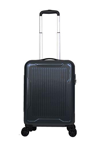 Reisekoffer schwarz Trolley Hartschale Reise Koffer Handgepäck M L XL Set 4 Doppelrollen TSA-Schloss (Koffer M)