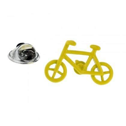 Ashton and Finch Gelbes Fahrrad-Entwurfs-ReversPin-Abzeichen