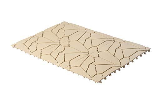 UPP Outdoor Gartenplatten Klickfliesen 30 x 30 cm | Wetterfester Bodenbelag für Balkon, Garten & Terrasse | Einfach & Schnell verlegt [24 Teile, Naturstein] -