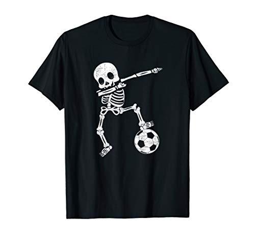 Frauen Kostüm Fußball - Dabbing Skelett Dab Gruseliges Fußball Halloween Kostüm  T-Shirt