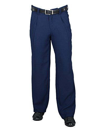 Bundfaltenhose Herren Mode in Dunkelblau, Business Stoffhose Herren mit Bundfalte Modell Swing Größe 56