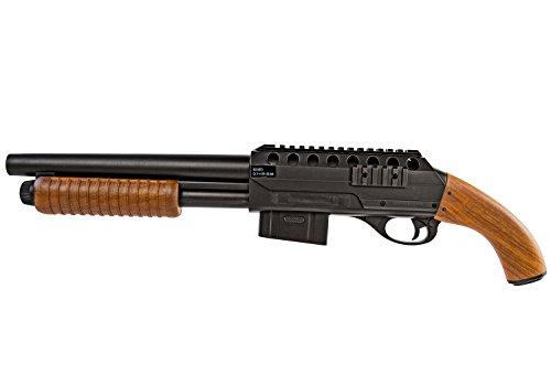Schrotflinte Gewehr Pump-Gun Flinte Feder-Druck Soft-Air Air-Soft inkl. Schutz-Brille (Metall Guns Airsoft Elektrische)