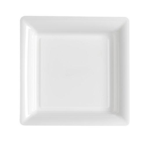 Ma Vaisselle Jetable - Assiette Carree Couleur Blanche Diametre 235