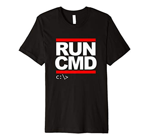 Run CMD T Shirt Computer Nerd T Shirt -