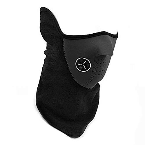 BByu Neopren Fahrrad Motorrad Snowboard Ski Radfahren Halbe Gesichtsmaske mit Einem Ausschnitt für Nase Atmen Halswärmer Outdoor Sports Maske für Erwachsene Männer Frauen(Schwarz)
