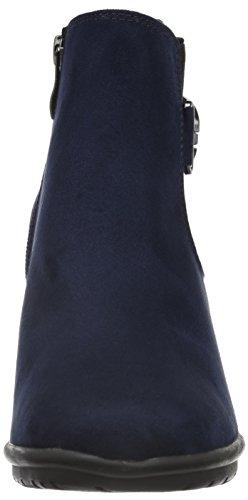 Marco Tozzi 25340, Bottes Chelsea Femme Bleu (NAVY 805)