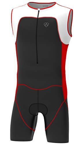 Deportes Hera combinaison triathlon néoprène, nage, vélo, course - monocolore ou bicolore, bleu, vert, rouge L rouge
