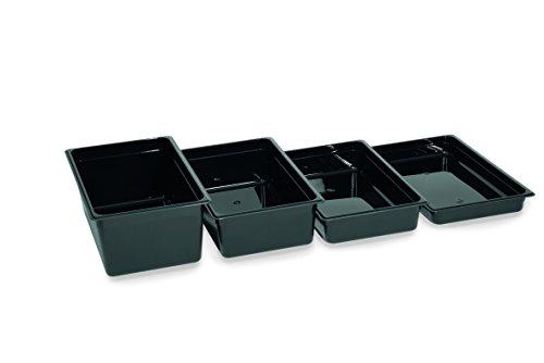 Gastronormbehälter, GN 1/9, Schwarz, Optionale Größen und Deckel wählbar, Serie 95, Kunststoff (A3 – 150 mm Tiefe) (A4 – 200 mm Tiefe)