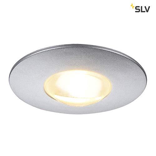 SLV DEKLED, Einbauleuchte Kunststoff Silbergrau -
