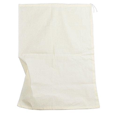 Therpin - Sac filtrant en mousseline - Maillage fin - Pour la nourriture, le lait de noix, le jus, le thé, le yaourt, le houblon - Pour faire du fromage ou pour le brassage maison, 35cm x 25cm