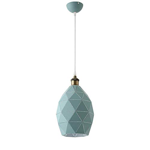 ZOUQILAI Nordic Simple Solo Cabeza Araña de Hierro Forjado Personalidad Creativa Lámpara de Mesa Moderna Cafetería Sala de Estar Lámpara Colgante