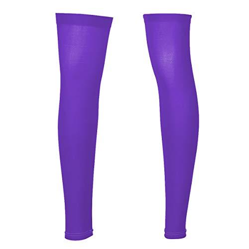 iEFiEL Herren Strümpfe aus weichem Nylon, Oberschenkel, ohne Beine, eng anliegende Strümpfe - Violett - Einheitsgröße