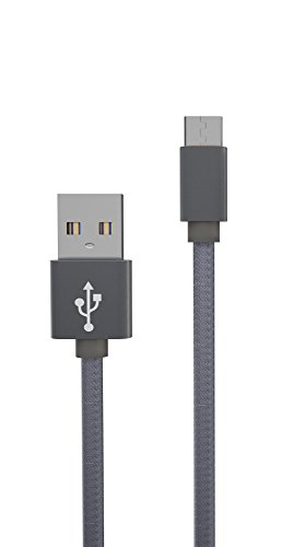 Us A/c (USB-C 3.0 Schnell-Lade-Kabel Typ C auf USB A 3.0 highspeed Datenkabel - 56k Widerstand - Quick Charge - robust & langlebig Aluminium-Gehäuse - geflochtene Ummantelung - reversibel - 100 cm matt grau z.B. für Nexus 5x, 6p, Macbook, Oneplus2, Oneplus3)