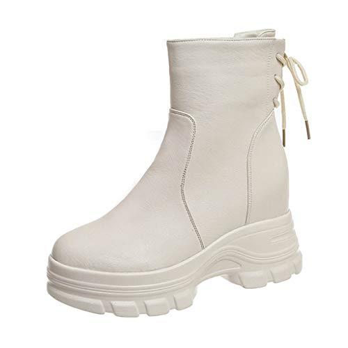 Sanahy Boots Chaussures Bottes Sexy Boots Augmentation Dans Bottines à Talon Bas Femme Hiver Automne Bottines Chelsea à Talon Soldes