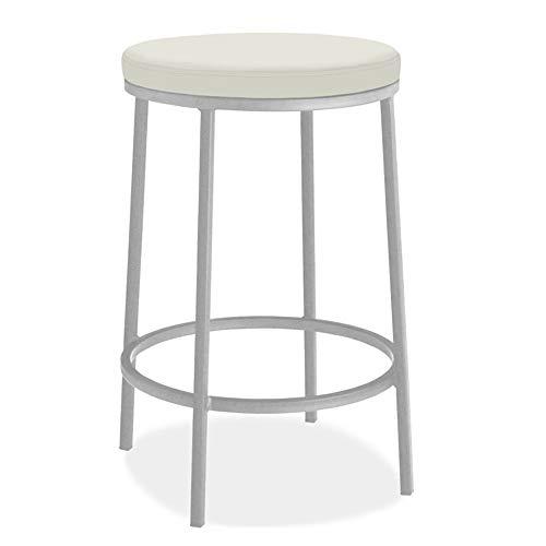 Zaixi Retro Bar, kreativer Loft-vorderer hoher Schemel-Schmiedeeisen-vordere Stuhl-Bar-Restaurant-Schemel-Freizeit-Unterhaltungs-Dekorations-Schemel (Farbe : Weiß)