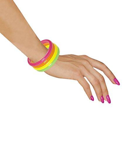 80er Jahre Set Neon Armband Schmuck 4er Set super Farben neonfarben