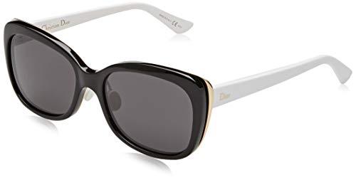 Dior Damen DIORIFIC2N Y1 3B8 Sonnenbrille, Schwarz (Bk Gold Whte/Grey), 55