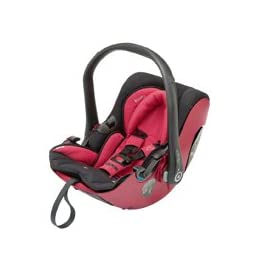 Kiddy Evolution Pro Infant Carrier, lieflat function outside the car, Group 0+ (0-13 kg, birth - ca. 15 month) B-Goods Cranberry