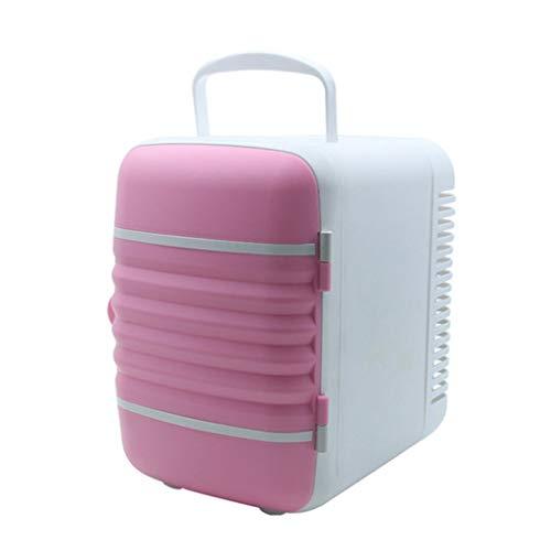 WERT 4-Liter Elektrische Kühlbox für Auto Boot Camping Kühlbox 12V 220V (WÄRMT KÜHLT) HÖHE: 17cm,Pink -