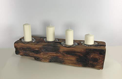Kerzenständer Kerzenhalter Holz Glas Edel Natur Handmade Kerze -