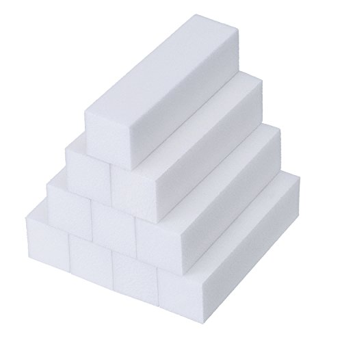 10 pezzi bianco mattoncini di levigatura lime grinta di manicure strumento per nail art punti